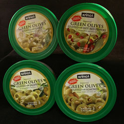 STUFFED OLIVES SHIPPER
